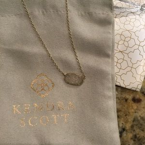 White Druzy Kendra Scott Necklace❤️